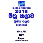 2018 A/L Art Paper Sinhala Medium part I mcq paper part II Essay & Structured al Art Past Papers