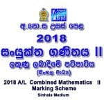 2018 Combined Maths II Marking